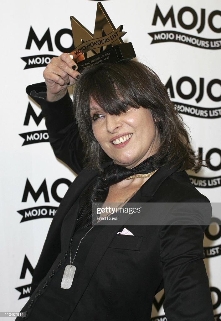 Chrissie Hynde of the Pretenders, winner of the MOJO Songwriter Award