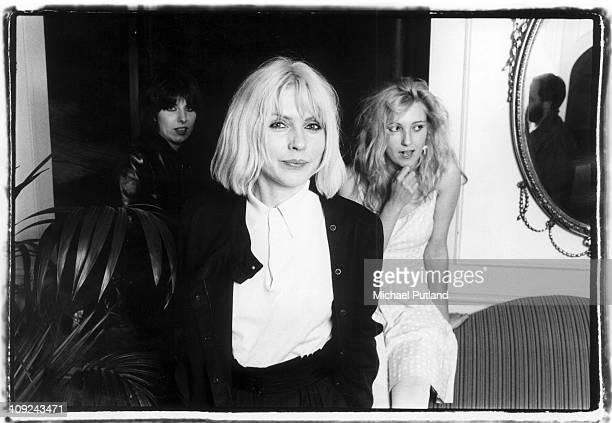 Chrissie Hynde of The Pretennders Debbie Harry of Blondie and Viv Albertine of The Slits in London 1980