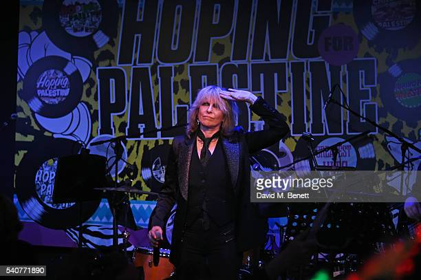 Chrissie Hynde performs at 'Hoping's Greatest Hits' the 10th anniversary of The Hoping Foundation's fundraising event for Palestinian refugee...