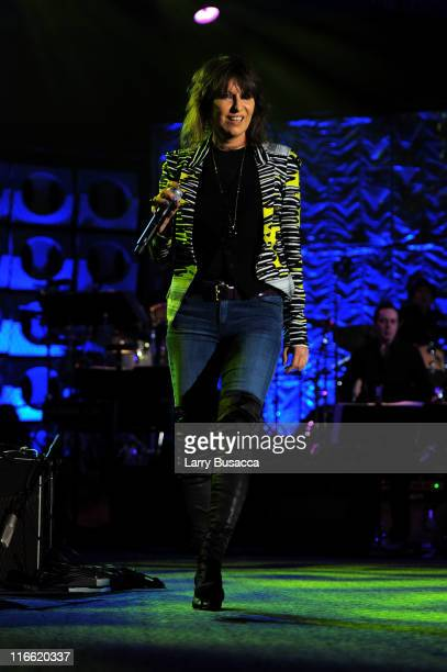 Chrissie Hynde performs onstage at the Songwriters Hall of Fame 42nd Annual Induction and Awards at The New York Marriott Marquis Hotel Shubert Alley...