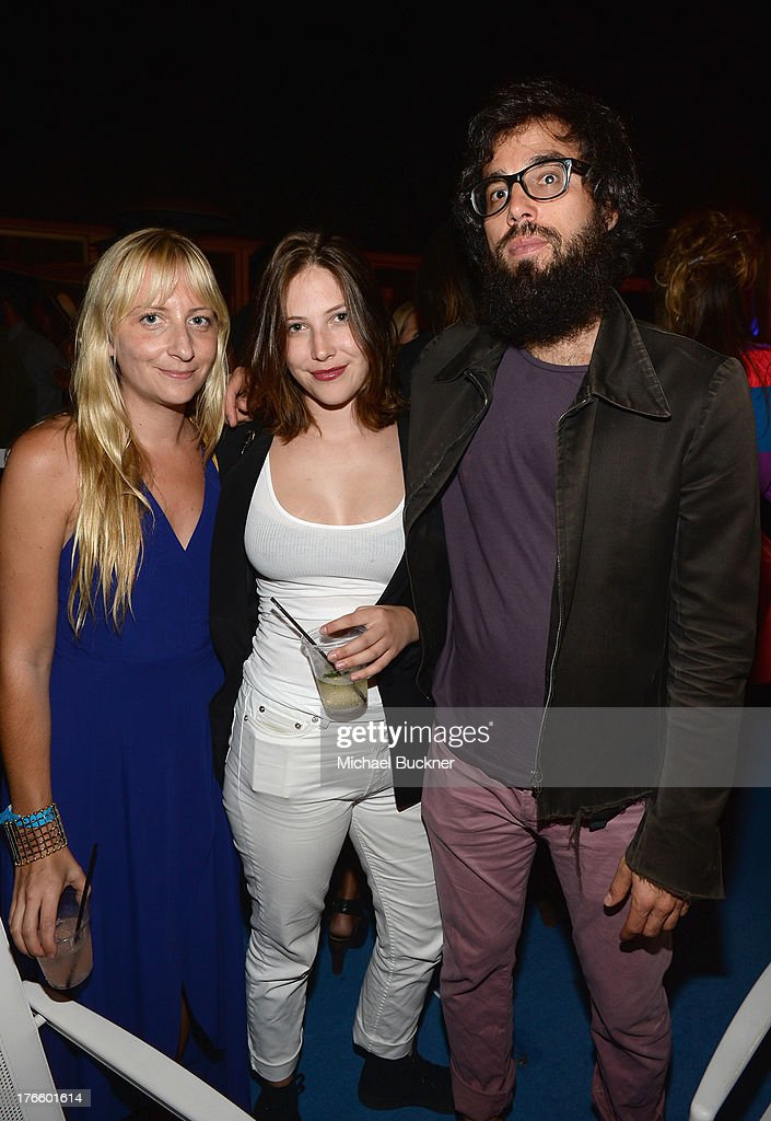 Chrissie Miller, Georgia Ford and guest attend Warby Parker's store opening in The Standard, Hollywood on August 15, 2013 in Los Angeles, California.