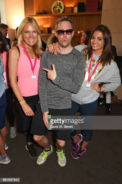 Chrissie Reeves Dean Piper and Katy Wickremesinghe attend the Lady Garden brunch following the 5K 10K Fun Run in aid of Silent No More Gynaecological...