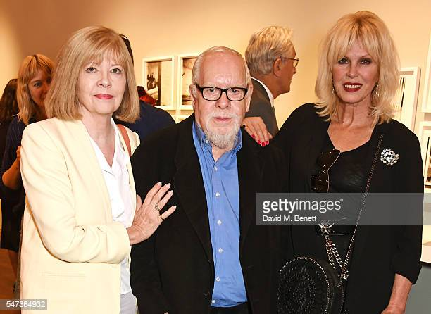Chrissy Blake Sir Peter Blake and Joanna Lumley attend a private view of 'Terence Donovan Speed Of Light' at The Photographers' Gallery on July 14...