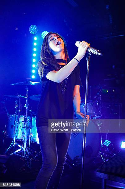 Chrissy Costanza from Against the Current performs at La Maroquinerie on October 8 2016 in Paris France