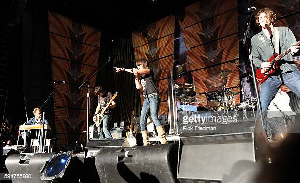 Chrissy Hines and The Pretenders perform at the Farm Aid concert at the Comcast Center in Mansfield