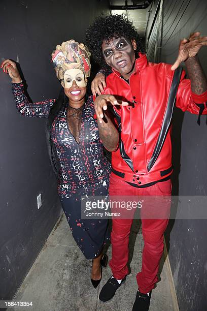 Chrissy Lampkin and Fabolous attend Fabolous' Halloween Party at Stage 48 on October 30 2013 in New York City