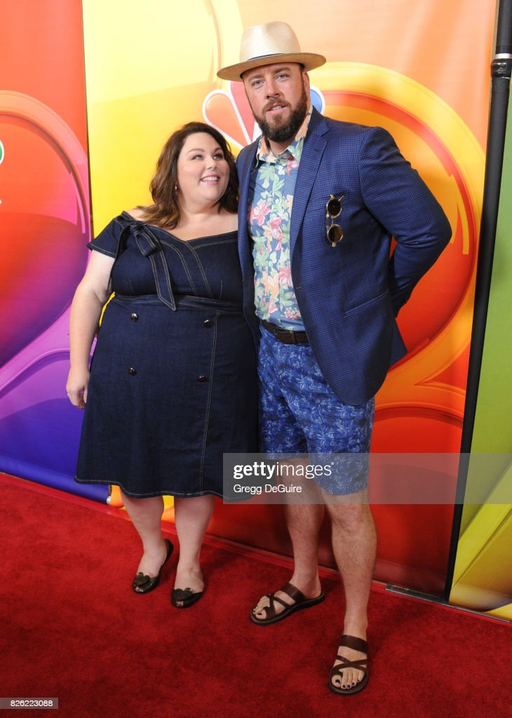 Chrissy Metz and Chris Sullivan arrive at the 2017 Summer TCA Tour - NBC Press Tour at The Beverly Hilton Hotel on August 3, 2017 in Beverly Hills, California.