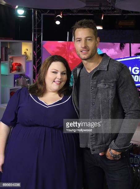 Chrissy Metz and Justin Hartley at the Young Hollywood Studio on June 13 2017 in Los Angeles California