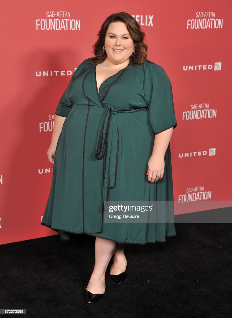 Chrissy Metz arrives at the SAG-AFTRA Foundation Patron of the Artists Awards 2017 on November 9, 2017 in Beverly Hills, California.