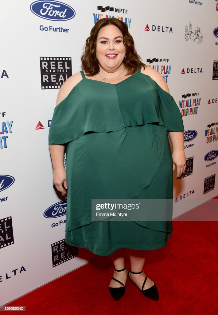 Chrissy Metz at the 6th Annual Reel Stories, Real Lives event benefiting MPTF at Milk Studios on November 2, 2017 in Hollywood, California.