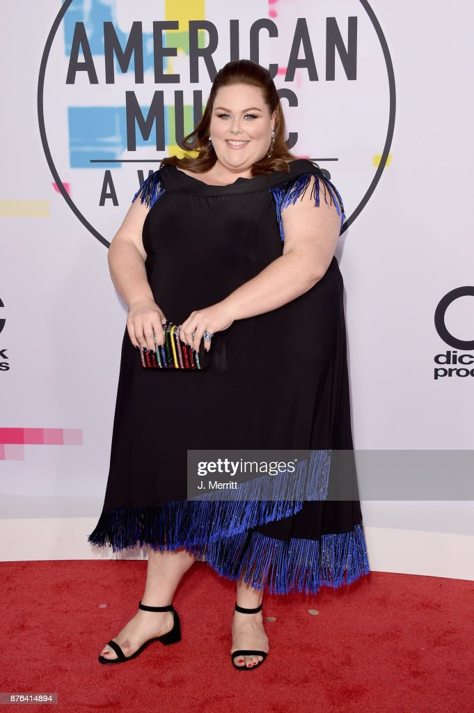 Chrissy Metz attends 2017 American Music Awards at Microsoft Theater on November 19, 2017 in Los Angeles, California.