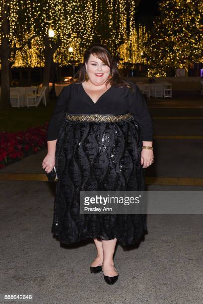 Chrissy Metz attends Hollywood Foreign Press Association hosts Annual Holiday Party and Golden Globes 75th Anniversary Special Screening at Paramount...