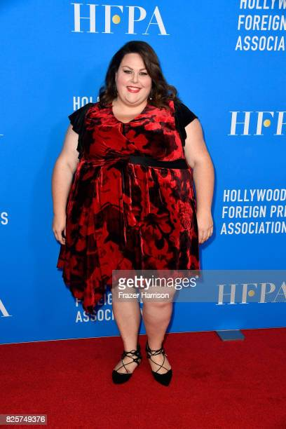 Chrissy Metz attends the Hollywood Foreign Press Association's Grants Banquet at the Beverly Wilshire Four Seasons Hotel on August 2 2017 in Beverly...