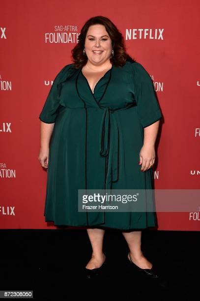 Chrissy Metz attends the SAGAFTRA Foundation Patron of the Artists Awards 2017 at the Wallis Annenberg Center for the Performing Arts on November 9...