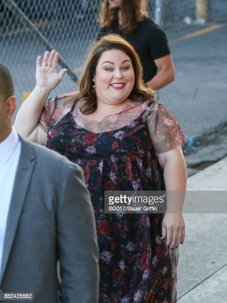 Chrissy Metz is seen at 'Jimmy Kimmel Live' on August 15 2017 in Los Angeles California