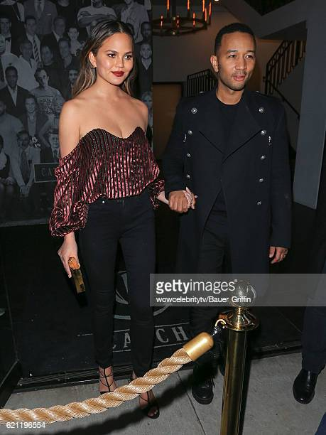 Chrissy Teigen and John Legend are seen on November 05 2016 in Los Angeles California