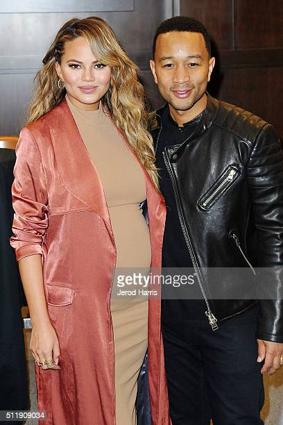 Chrissy Teigen and John Legend attend Chrissy Teigen signs copies of her new book 'Cravings Recipes For All The Food You Want To Eat' at Barnes Noble...