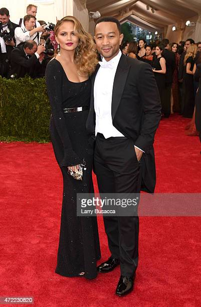 Chrissy Teigen and John Legend attend the 'China Through The Looking Glass' Costume Institute Benefit Gala at the Metropolitan Museum of Art on May 4...
