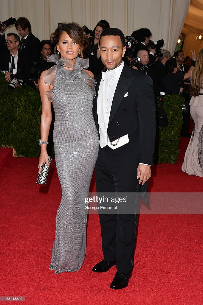 Chrissy Teigen and John Legend attends the 'Charles James: Beyond Fashion' Costume Institute Gala at the Metropolitan Museum of Art on May 5, 2014 in New York City.