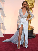 Chrissy Teigen arrives at the 87th Annual Academy Awards at Hollywood Highland Center on February 22 2015 in Hollywood California