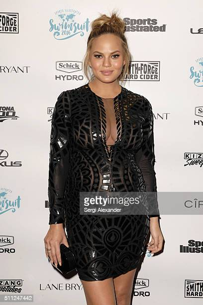 Chrissy Teigen attends A Night at Sea VIP Boat Cruise sponsored by Sports Illustrated Swimsuit 2016 Yacht Cruise on February 18 2016 in Miami City