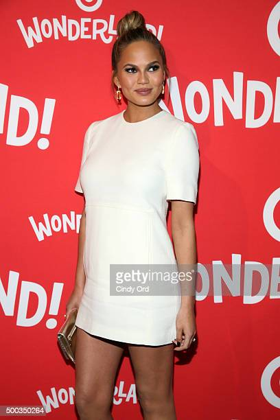 Chrissy Teigen attends Target Wonderland VIP event on December 7 2015 at Target Wonderland 70 10th Avenue in New York City