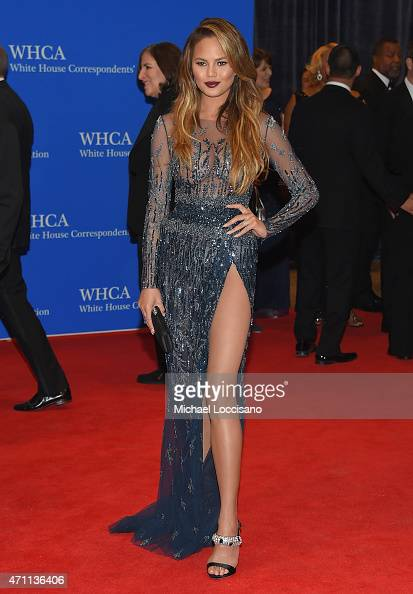 Chrissy Teigen attends the 101st Annual White House Correspondents' Association Dinner at the Washington Hilton on April 25 2015 in Washington DC
