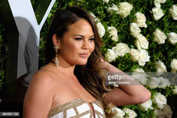 Chrissy Teigen attends the 2017 Tony Awards at Radio City Music Hall on June 11 2017 in New York City