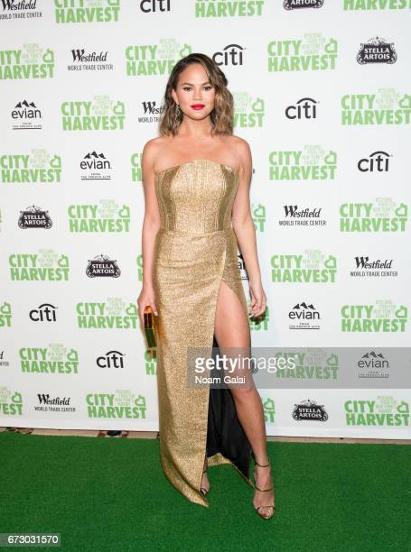 Chrissy Teigen attends the 23rd Annual City Harvest 'An Evening of Practical Magic' Gala at Cipriani 42nd Street on April 25 2017 in New York City