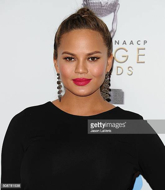 Chrissy Teigen attends the 47th NAACP Image Awards at Pasadena Civic Auditorium on February 5 2016 in Pasadena California