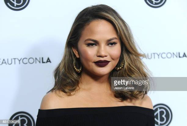 Chrissy Teigen attends the 5th annual Beautycon festival at Los Angeles Convention Center on August 13 2017 in Los Angeles California