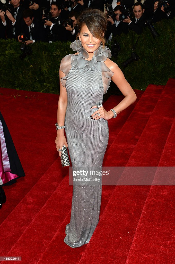 Chrissy Teigen attends the 'Charles James: Beyond Fashion' Costume Institute Gala at the Metropolitan Museum of Art on May 5, 2014 in New York City.