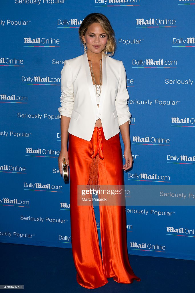 Chrissy Teigen attends the 'DailyMailcom Seriously Popular Yacht Party' on June 24 2015 in Cannes France