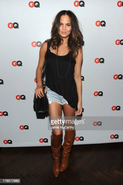 Chrissy Teigen attends the GQ 'What To Wear Now' Special Issue Party at The Highline Hotel on August 15 2013 in New York City