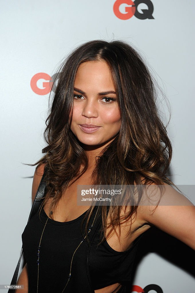 Chrissy Teigen attends the GQ 'What To Wear Now' Special Issue Party at The Highline Hotel on August 15, 2013 in New York City.