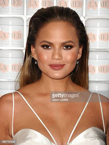 Chrissy Teigen attends the La Mer celebration of an Icon event at Siren Studios on October 13 2015 in Hollywood California