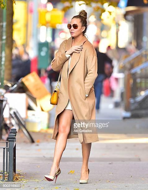 Chrissy Teigen is seen in Soho on December 7 2015 in New York City
