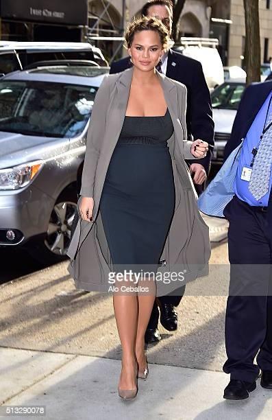 Chrissy Teigen is seen in Soho on March 2 2016 in New York City