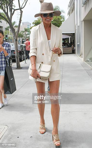 Chrissy Teigen is seen on July 01 2015 in Los Angeles California