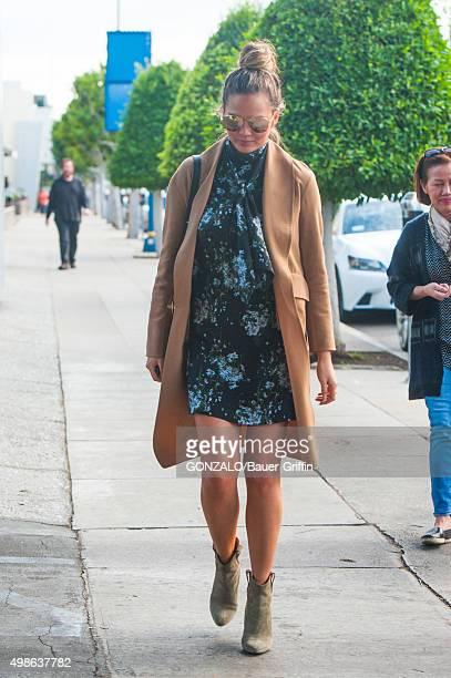 Chrissy Teigen is seen on November 24 2015 in Los Angeles California