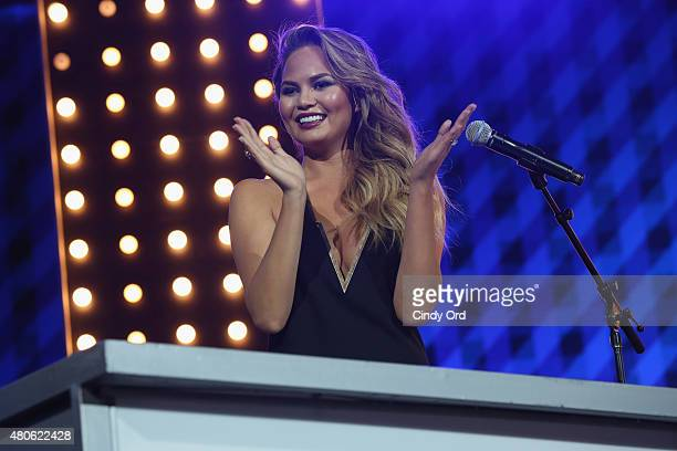 Chrissy Teigen speaks onstage during the Lip Sync Battle LIVE At SummerStage In New York on July 13 2015 in New York City