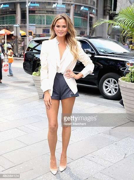 Chrissy Teigen Viacom And Spike TV Ring The NASDAQ Opening Bell at NASDAQ MarketSite on July 13 2015 in New York City