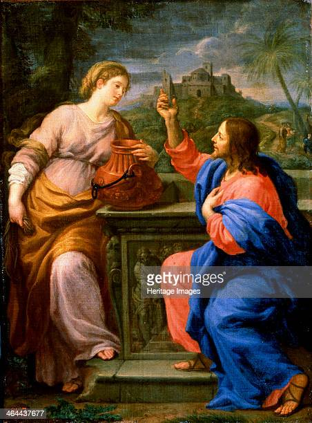 'Christ and the Samaritan Woman at Jacob's Well' Maratta Carlo Italy School of Rome Found in the collection of the M Kroshitsky Art Museum Sevastopol