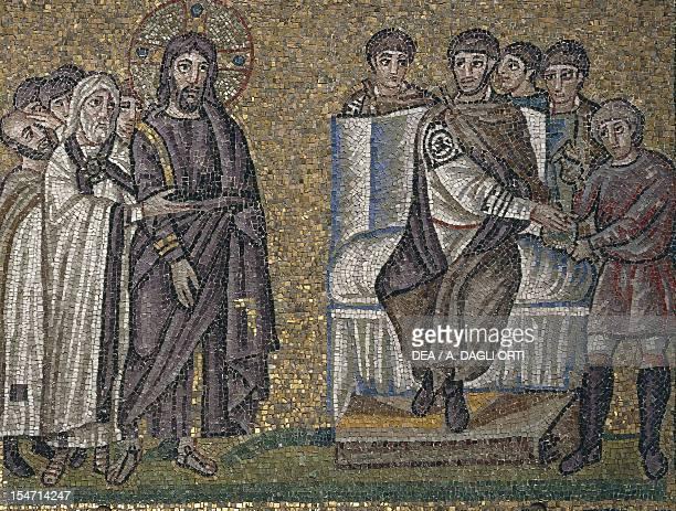 Christ before Pontius Pilate mosaic south wall upper level Basilica of Sant'Apollinare Nuovo Ravenna EmiliaRomagna Italy 5th6th century