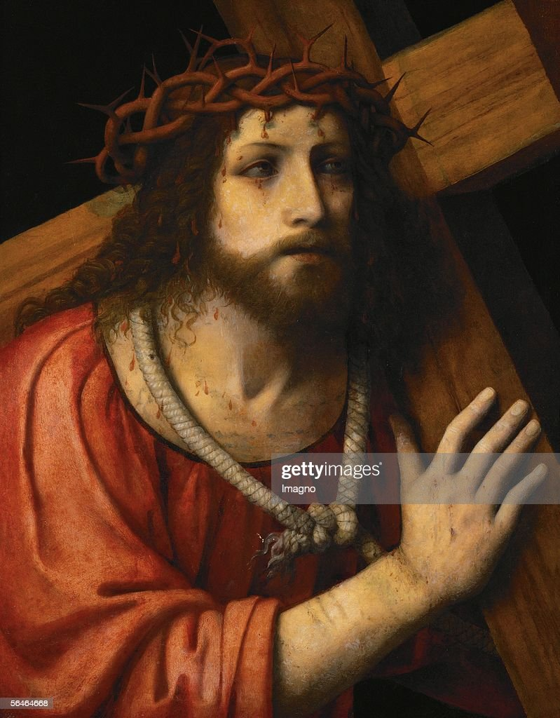 christ carrying the cross pictures getty images