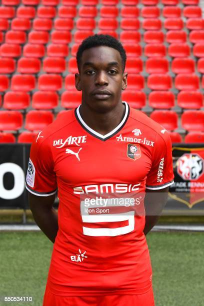 Christ Emmanuel Faitout Maouassa during photoshooting of Stade Rennais for new season 2017/2018 on September 19 2017 in Rennes France