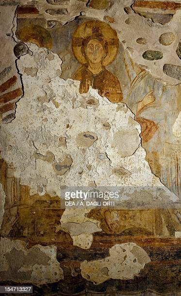 Christ on the throne fresco from the tower of the monastery of Torba Castelseprio Italy 11th century