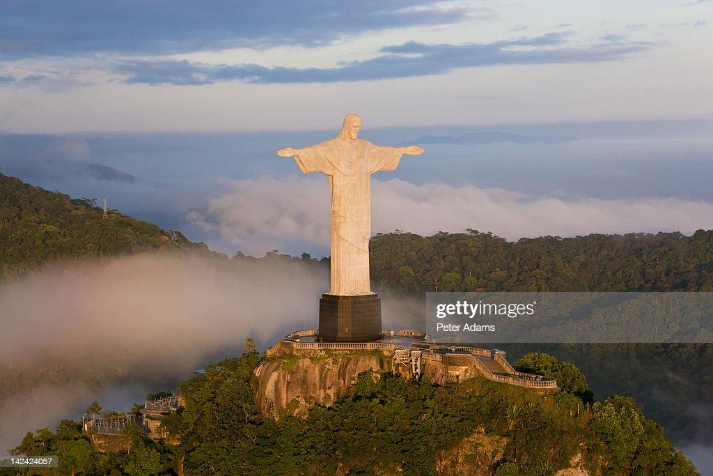 Christ Redeemer Statue, Rio de Janeiro, Brazil : Stock Photo