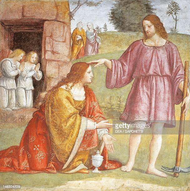 Christ risen appearing to Mary Magdalene 15211523 by Bernardino Luini fresco Detail Church of Saint Maurice al Monastero Maggiore Milan