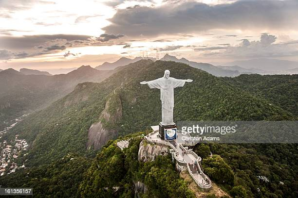 Christ the Redeemer statue, Corcovado at dusk